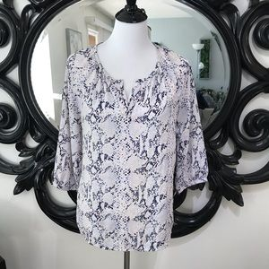 Kenar size M ladies blouse pink white navy blue